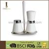 Porcelain cooking Salt and Pepper grinder salt container Set with Rack herb container spice grinder