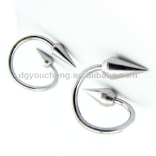 Piercing Jewelrry Round Spike Spiral Lip Rings