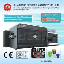 Automatic plastic cup making machine F70B-S150 with Tilt mold