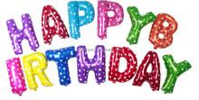 Colorido cumpleaños globos metálicos feliz cumpleaños 16 pulgadas 40 cm 2015 nuevo