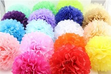 paper decoration round pompons, party tissue paper round pompons