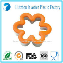 SEDEX audit factory flower shaped custom stamp silicone cookie cutter