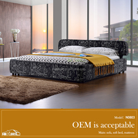 N0803# American style teak/ wood double bed designs ,3d bed cover set on sale
