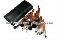 22 pieces good quality tanimal hair emily makeup brush set,22 piec profession brush set