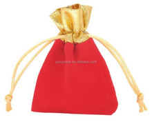 Gold jewelry bag Red Velvet Jewellery bag for diamond ring jewelry watch gift bags