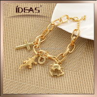 Adjustable direct jewelry factory produced cross sun cloud chram ideas chain hand circle
