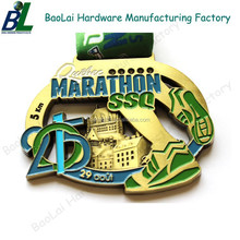 Embossed hollow out antique Glow In The Dark Insert Medal