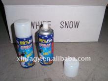 flying white snow spray