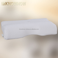 Plain White Butterfly Middle Concave Latex Foam Wedge Pillows