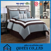 2015 hotsale quilted printing cotton comforter set with matching curtains