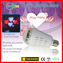 led light bulb, weeding decorations, holiday light projector