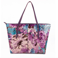 Flower design PVC leather for ladies handbag leather material very popular sell