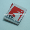 Laser cut woven tapes polyester garment tag 50D main neck embroidery label