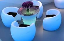 RGB fashional plastic beach party LED sofa