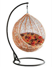 Chinese folk art hand weaving art hanging chair swing chair with stand