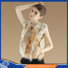 New design 2015 Fashion Women Short Style Real Red Fox Fur Vest