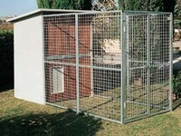 Galvanized dog kennels