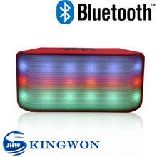 Kingwon 2015 new flashed light portable wireless mini bluetooth 2.1 multimedia speaker