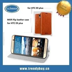Mofi brand mobile phone leather case for HTC E9 plus case wholesale china