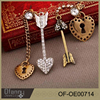Fashion Modeling Earrings Key And Lock Earring Jewelry For Valentine's Gifts
