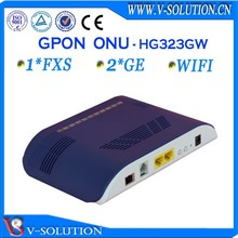 Fast ethernet ftth gpon WIFI 2GE onu modem compatible with Huawei/ZTE/BDCOM OLT