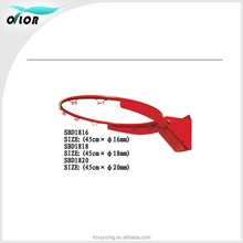 Official size solid rim bounding edge wholesale basketball hoops with net