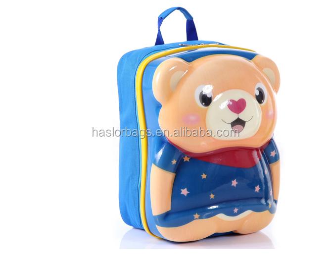 2015 nouveau style mignon ours moulé sac à dos pour enfants