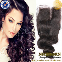 """6A Malaysian lace closure loose wave middle parted Swiss Lace top closure 1pc/lot 4x4"""" virgin hair Human hair"""