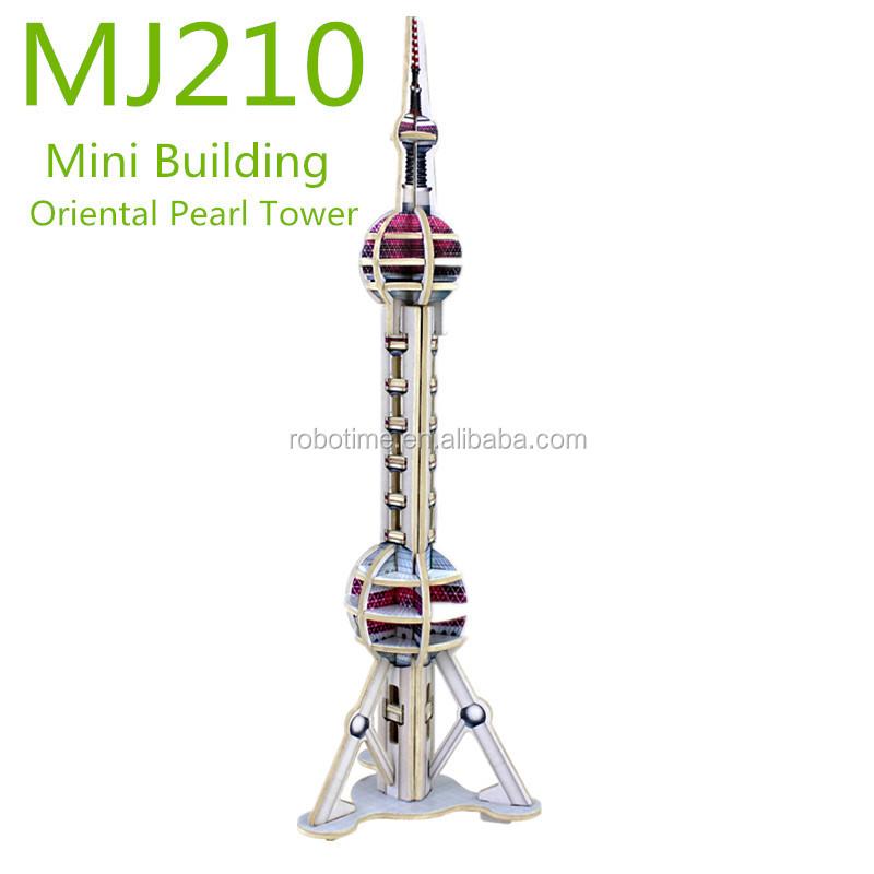 Diy Educational Wooden Tourist Building Model Toys - Buy Diy ...