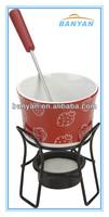 Ceramic cheese fondue warmer , glazed chocalate warmer