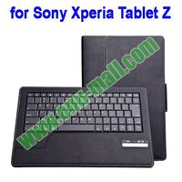 Leather Case and Bluetooth Keyboard for Sony Tablet Z with Holder