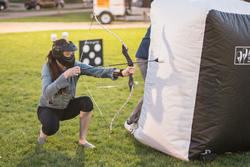 Paintball Bunker, Archery Tag Inflatable bunker from audiinflatables-310