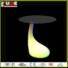 LED light bar furniture illuminated led small round glass coffee table colorful made in china