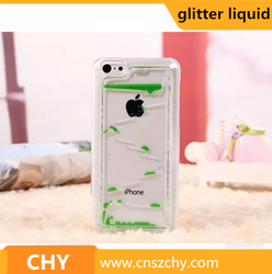 Cheap Drop Dynamic Flowing Liquid Glitter Quicksand PC Clear Case For iphone 5 5s