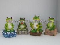 garden solar light frog made in china