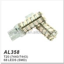 Factory auto tuning bulb auto led light T20(7440/7443) 68LEDS #1210 SMD (AL358)