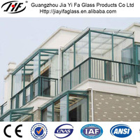 Clear Tempered Glass for sunroom tempered glass for commercial buildings