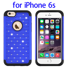 Starry Pattern Silicone + Plastic Hybrid Combination Case for iPhone 6s