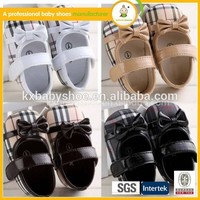 2015 wholesale china cheap price grid pu leather fancy baby girls dress shoes