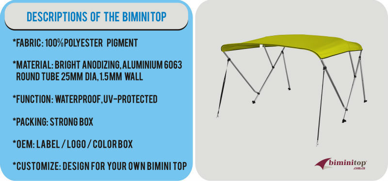 pontoon bimini top for fishing boat