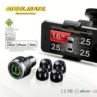 2015 Steelmate TPMS-8886 car wireless DIY TPMS lowes tire inflator,tyre pressure bluetooth,car alarm system