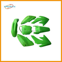 Green CRF70 CRF 70 Plastics Set Fairings Kit Body Protect 125cc 140cc 150cc Dirt Pit Bike Stomp z140 wpb 140