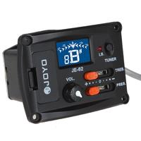 hot 5pcs JOYO JE-62 Digital Ukulele EQ Equalizer Pickup Tuner With LED Indicator