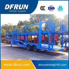 Light weight two axles open type Hydraulic lifting 6 car tansport truck trailer
