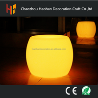Glowing led furniture interactive chair