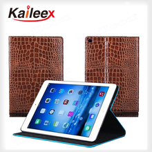 ShenZhen Protect Case Crocodile Pattern For Ipad Air2 Flip Leather Case