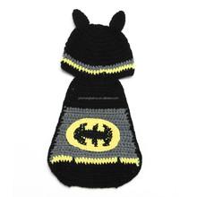 bat Design Knit Child Hat Crochet Knitting Beanie Newborn Props Knitted Hat