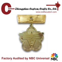Promotional new products expert factory custom gold plated blank star medal