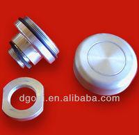 custom aluminum threaded plug screw end cap