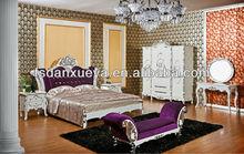danxueya-royal bedroom sets european style headboards silver leaf bed